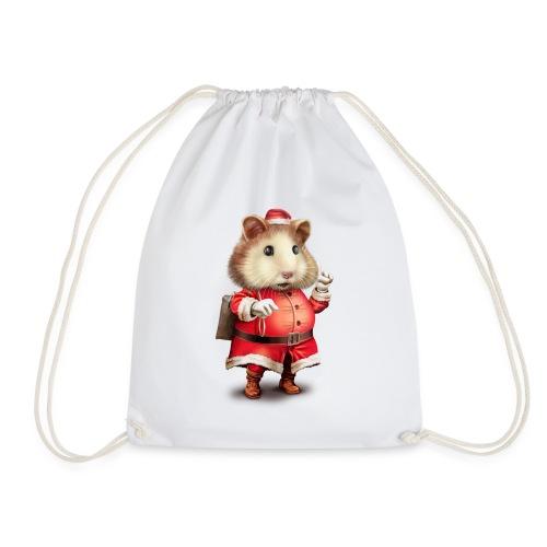 SANTA HAMSTER - Drawstring Bag