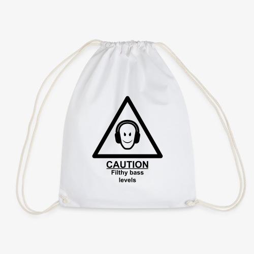 Caution Filthy Bass Logo - Drawstring Bag