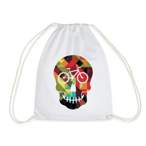 Colored Skull of Biker - Sacca sportiva