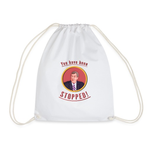 you have been stopped design - Drawstring Bag