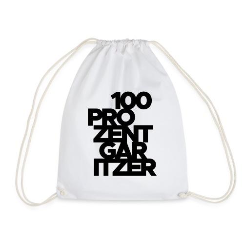 100 prozent garitzer schwarz - Turnbeutel