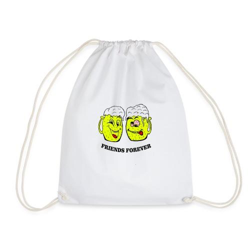 Beer Friends Forever T Shirt - Drawstring Bag