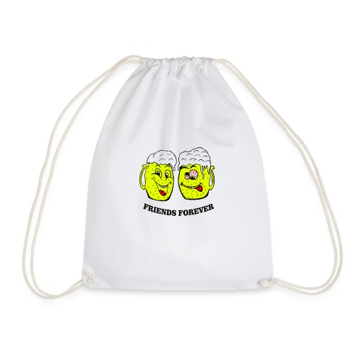Beer Friends Forever T Shirt - Drawstring Bag