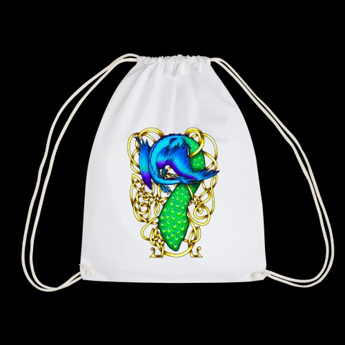 Peacock Dragon - Drawstring Bag