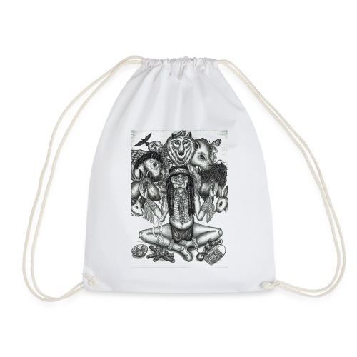 The Shaman (native american) - Drawstring Bag