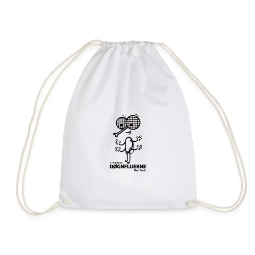 Døgnfluerne Short Comic Simpelt Logo Design. - Sportstaske