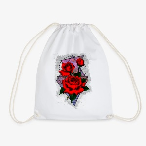 Flowers Geo - Drawstring Bag