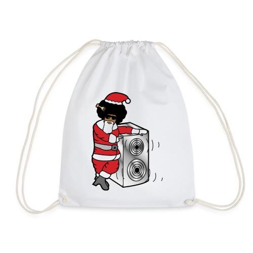 Afro Santa w/ Music Speaker - Drawstring Bag