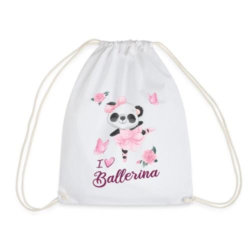 oso panda ballerina con mariposa y rosas - Mochila saco