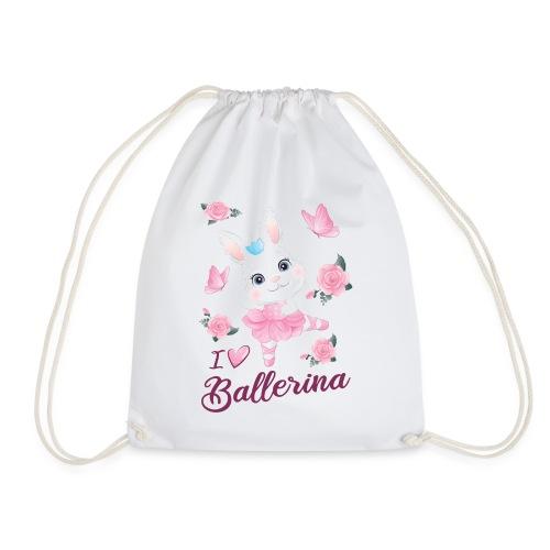 conejita ballerina con flores y mariposas - Mochila saco