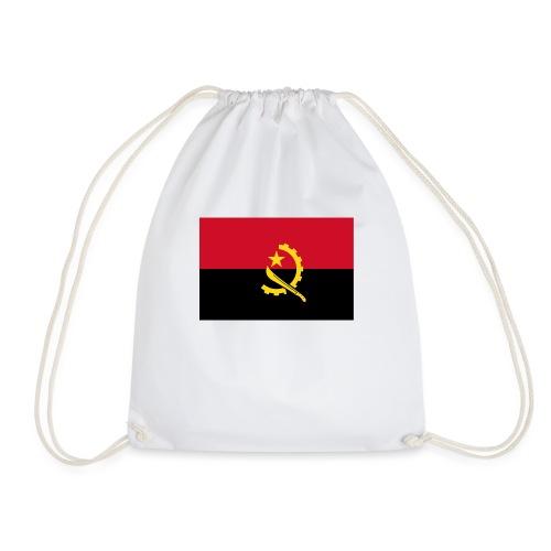 Angola flag shirt - Drawstring Bag