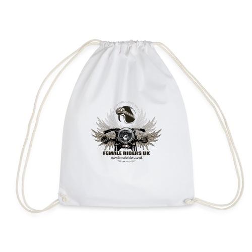 Female Riders logo 2 - Drawstring Bag