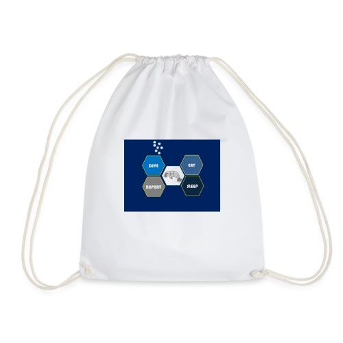Dive_sleep_repeat_Hexagonal_v1-0_20161118 - Drawstring Bag