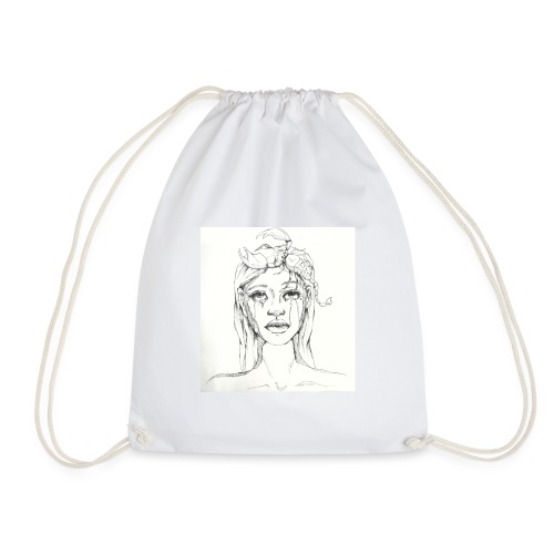 scorpion girl - Drawstring Bag