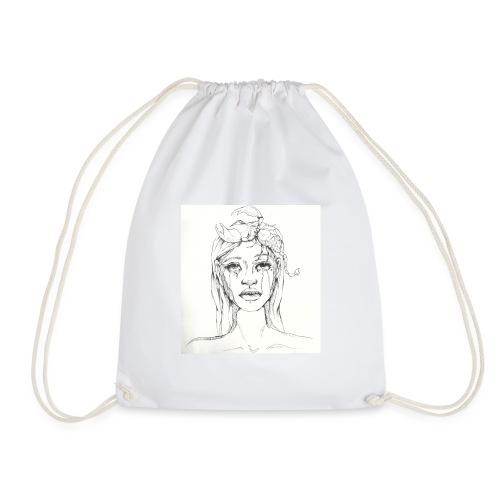 scorpion girl - Drawstring Bag