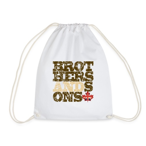 Brothers and Sons logo - dark design - Drawstring Bag