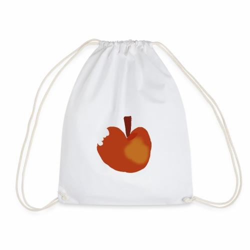 Apfel abgebissen - Turnbeutel