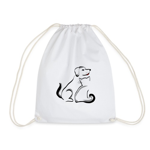 Pies i kot - Worek gimnastyczny