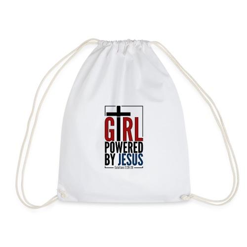 Girl Powered By Jesus - Women's Christian Fashion - Drawstring Bag