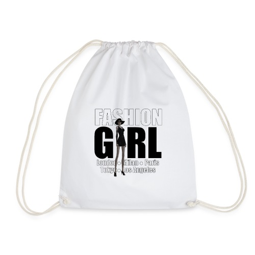 The Fashionable Woman - Fashion Girl - Drawstring Bag