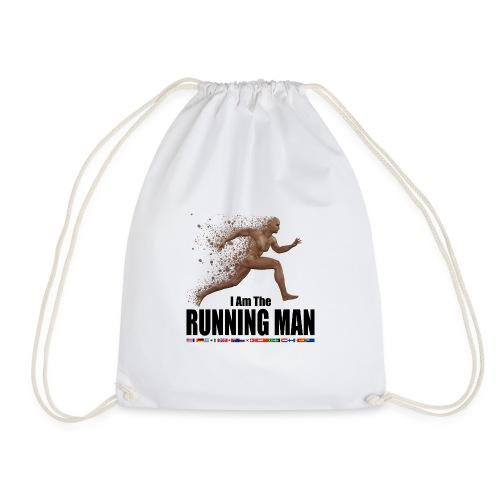 I am the Running Man - Sportswear for real men - Drawstring Bag