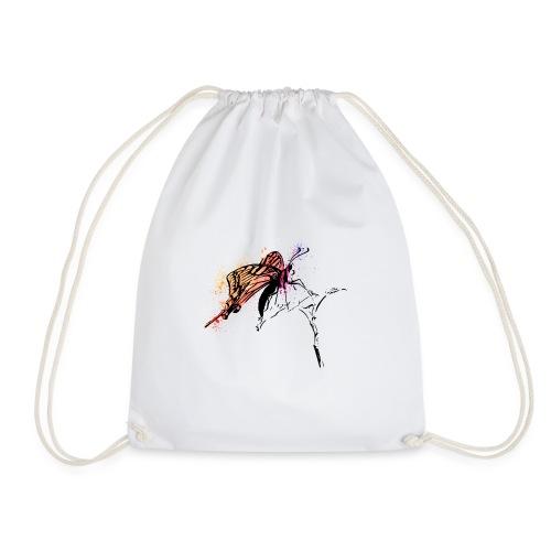 Schmetterling in Aquarelloptik - Turnbeutel