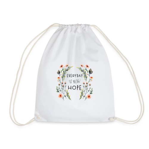 EVERY DAY NEW HOPE - Drawstring Bag