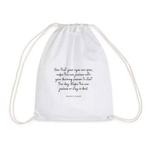 Simple quote - Drawstring Bag