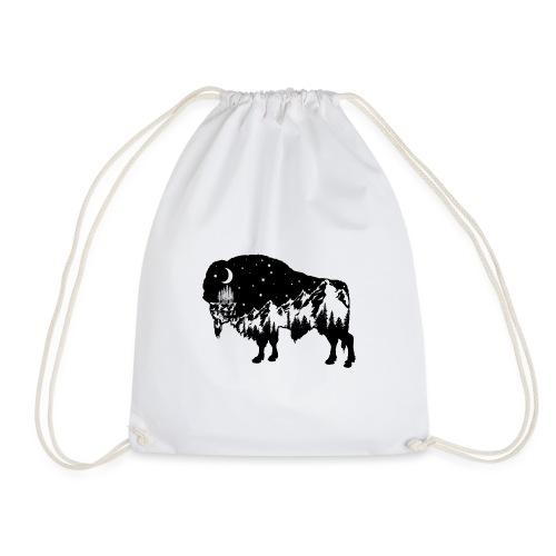 Die wilde Natur im Bison - Turnbeutel