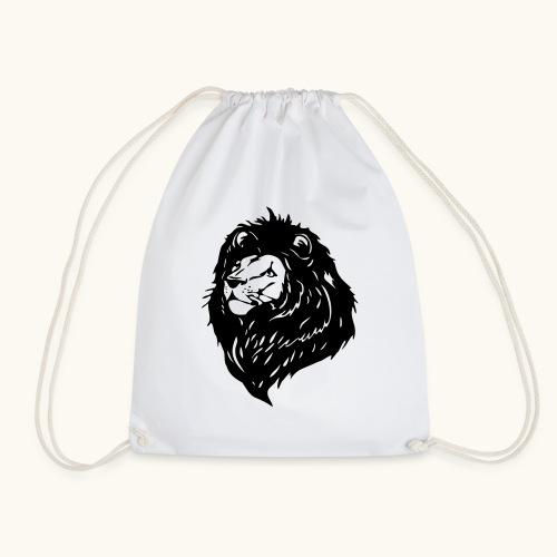 Lions tête fièrement élevés avec crinière noire - Sac de sport léger