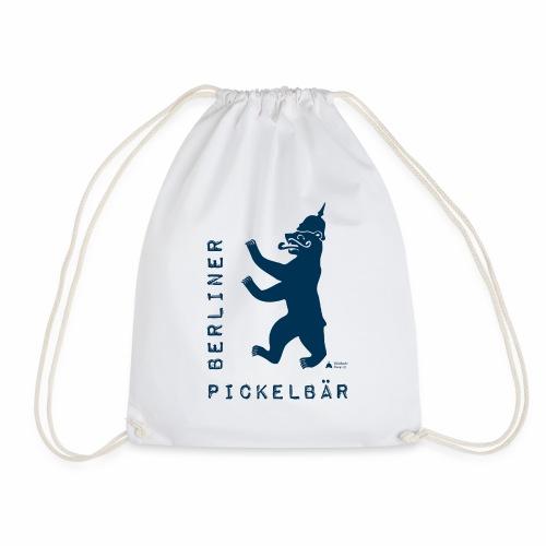 Berliner Pickelbär (Dark Blue) - Drawstring Bag