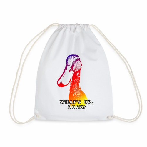 what's up duck - Color - Drawstring Bag