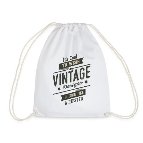 Vintage Design dark - Drawstring Bag