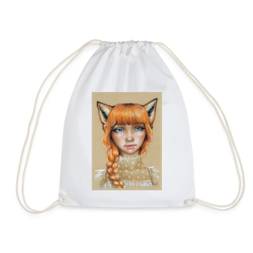 Fox Girl - Drawstring Bag