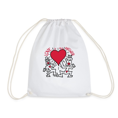 Love is the Answer by Oliver Schibli - Drawstring Bag