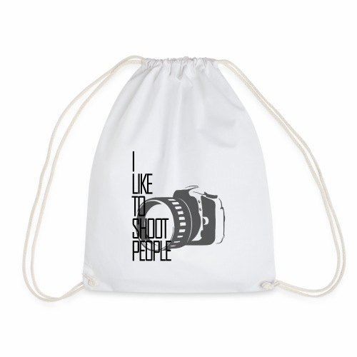 I like to shoot people - Drawstring Bag