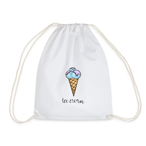 ice cream, halo top ice cream, rolled ice cream - Drawstring Bag