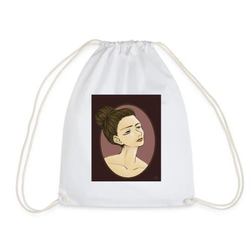 Girl illustration by Sofie Niebe - Drawstring Bag