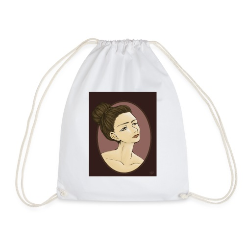Girl illustration by Sofie Niebe - Drawstring Bag