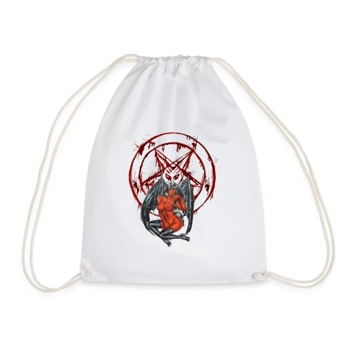 Blut Pentagramm mit Sexy Dämon - Turnbeutel