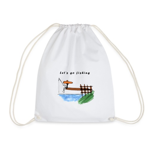 Let's go fishing - Drawstring Bag