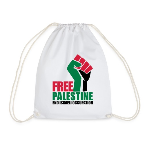 Free Palestine End Israeli Occupation - Drawstring Bag