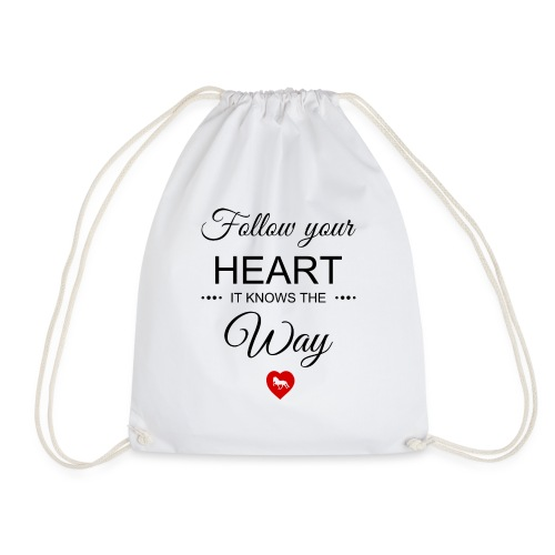 follow your heartbesser - Turnbeutel
