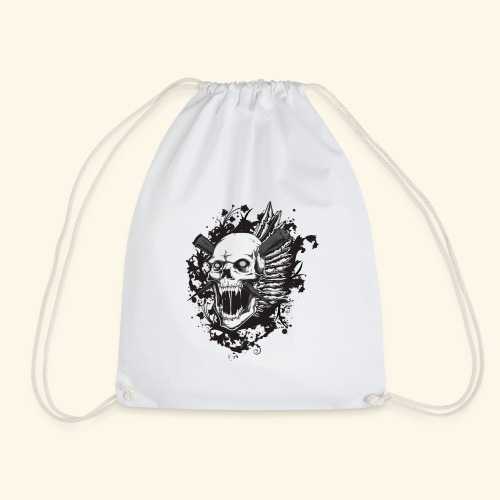 Suffering Skull - Drawstring Bag