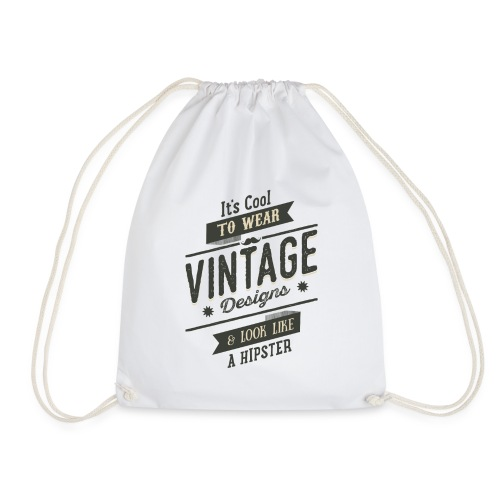 Vintage Design dark - Drawstring Bag