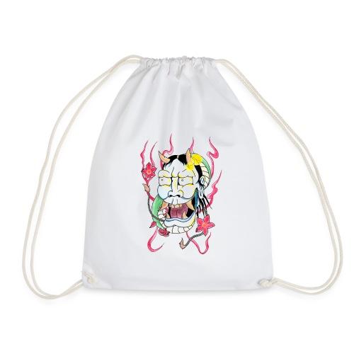 hannya mask - Drawstring Bag