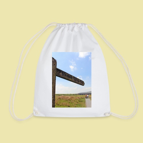 Footpath sign to Bleamoor - Drawstring Bag