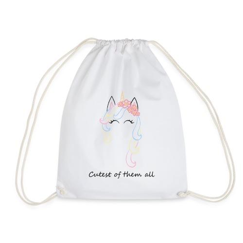 Cutest unicorn - Mochila saco