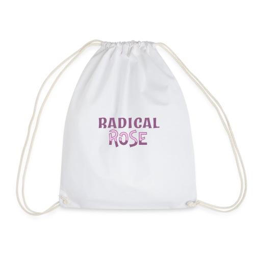 RADICAL rose logo - Drawstring Bag