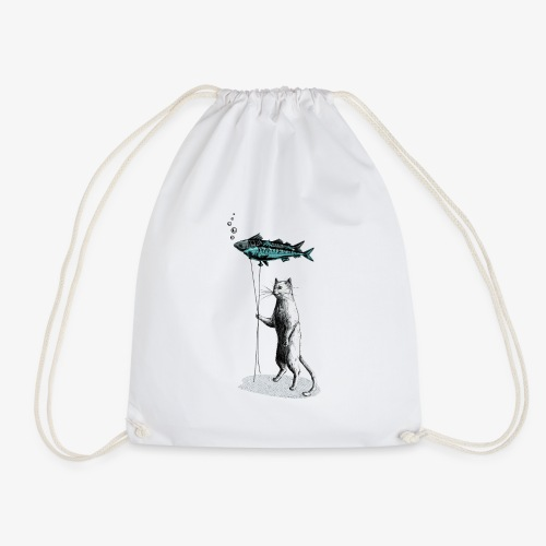 Cat Balloon - Drawstring Bag